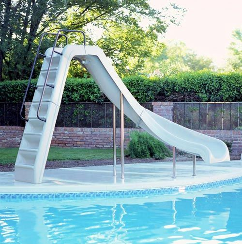 7 Best Water Slide Swimming Pool Images On Pinterest Pool Ideas Fiberglass Pools And