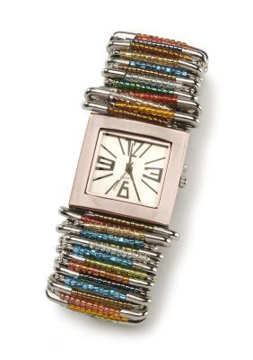 Safety pin watch instructions: Safety Pin Art, Colors Combos, Bands Http Bit Ly Hrs5Hi, Beads Watches, Watches Bands, Bands Http Bit Ly I5Cd5P, Pin Watches, Safety Pins, Diy Safety