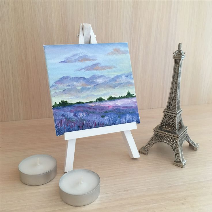 small canvas painting, oil painting, gift