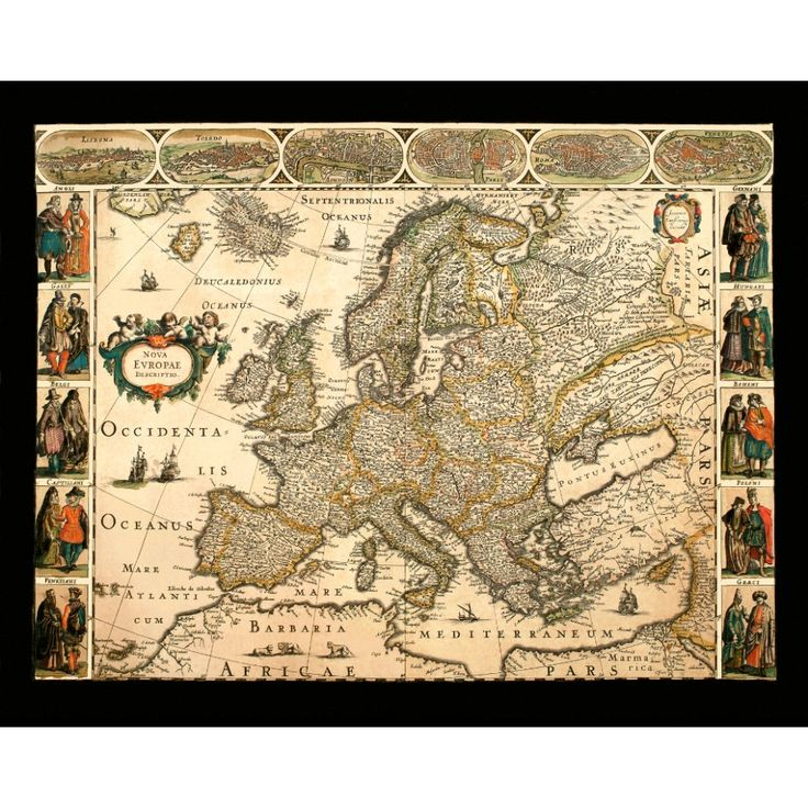 82 best Vintage Maps for Wall Art: Handmade Paper Prints images on ...