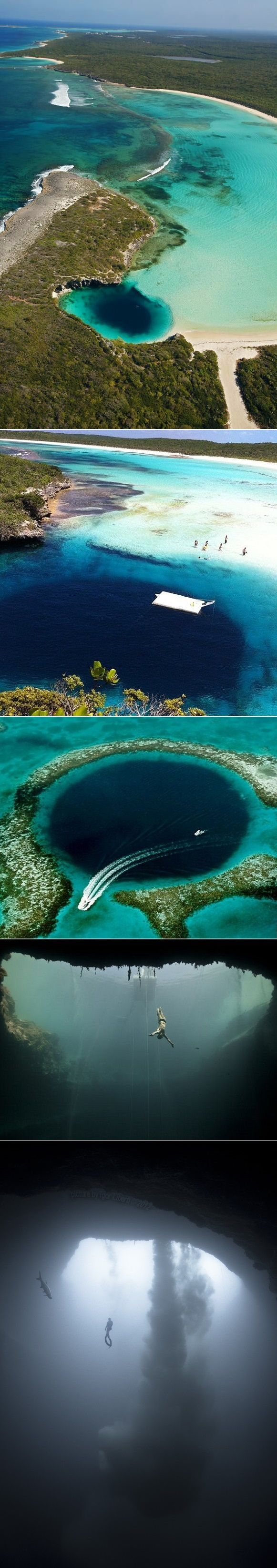 Shots of Dean's Blue Hole in Long Island, Bahamas. Go on over to www.bahamas.com for more info about visiting the Bahamas. #LongIsland #Bahamas #ItsBetterInTheBahamas