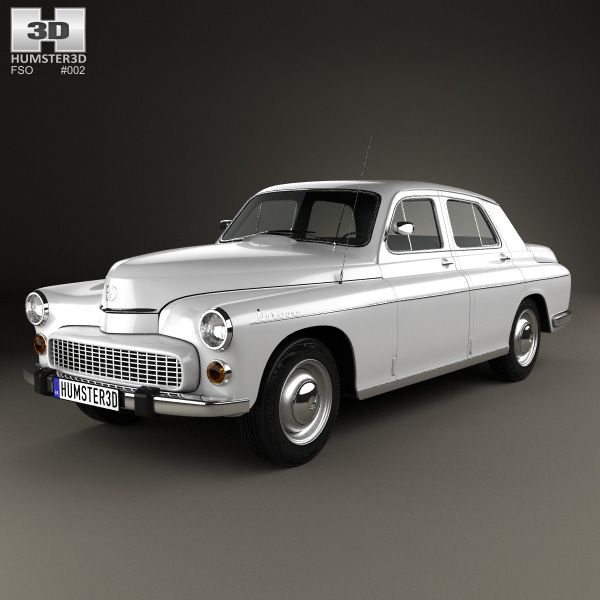 FSO Warszawa 223 1964 3d model from humster3d.com. Price: $75