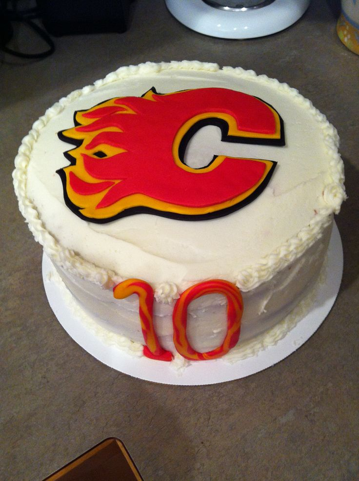 Calgary Flames cake