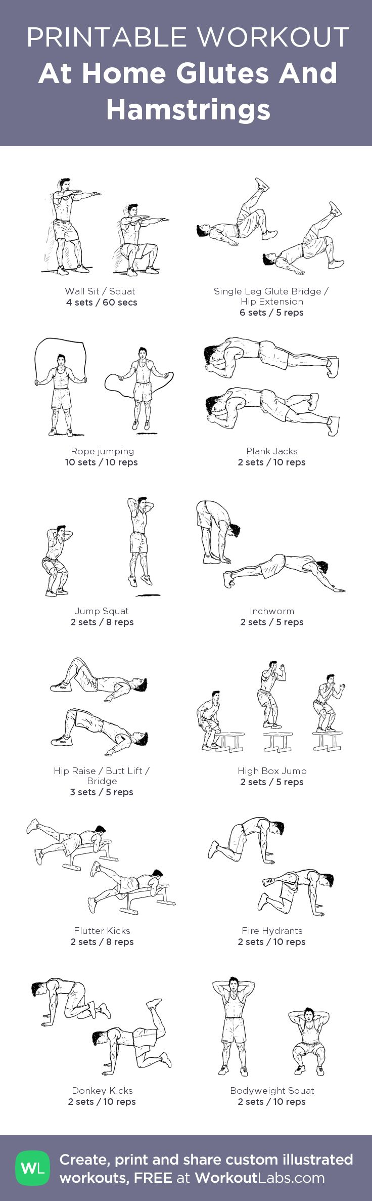 Hamstrings exercises at home