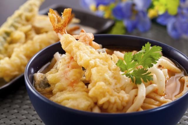 Easy Tempura Udon Noodles in a Hot Broth - Use Shortcuts or Make It From Scratch; Perfect for Colder Weather: Japanese Tempura Udon by Judy Ung for About.com/Japanese Food