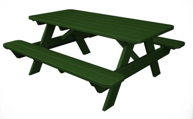 POLYWOOD® Park 6 Picnic Table #table #picnictable #picnicbench #parkbench #parktable #commercialtable #commercialparkbench #outdoortable #parkset