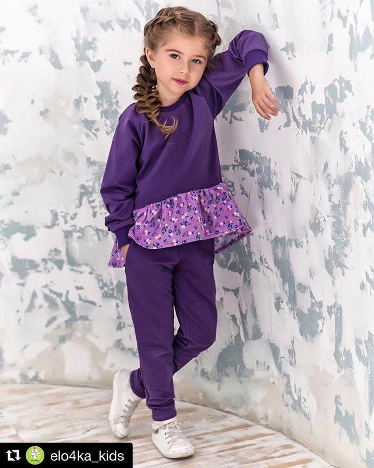 #Repost @elo4ka_kids (@get_repost)  Очень важно совместить удобство комфорт и стиль в одежде! Этот яркий костюм из трикотажа с воланом из микровельвета идеально подойдёт для осени! Можно одеть жилетку и утеплиться на случай прохладной погоды! Несколько моделей в наличии у нас в #ателье приходите потрогать и примерить адрес в шапке профиля Можем сшить на заказ по Вашим меркам! Доставка в другие города и по Нск На фото аккредитованная модель Милана Хаметова  Photographer @vovikano Stylist's…