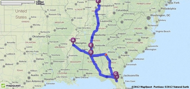 Official Mapquest Maps Driving Directions Live Traffic >> Driving Directions from Memphis, Tennessee to Marion