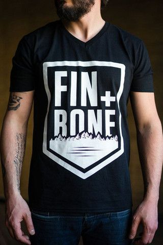 MADE IN OUR HOME TOWN. OUTDOOR LIFESTYLE BRAND. Mens Shield V-Neck – Fin+Bone Outdoors $24.99