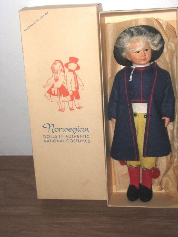 Vintage Norwegian Boy Ronnaug Petterssen Doll Simoa Thor Jorgensen Modem #DollswithClothingAccessories
