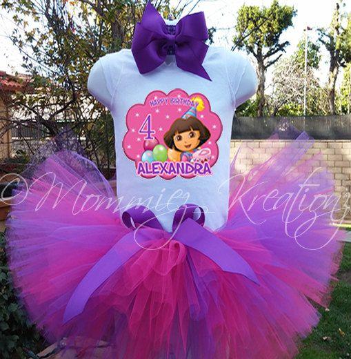 Dora the Explorer tutu set Dora birthday by MommiesKreationz, $13.75