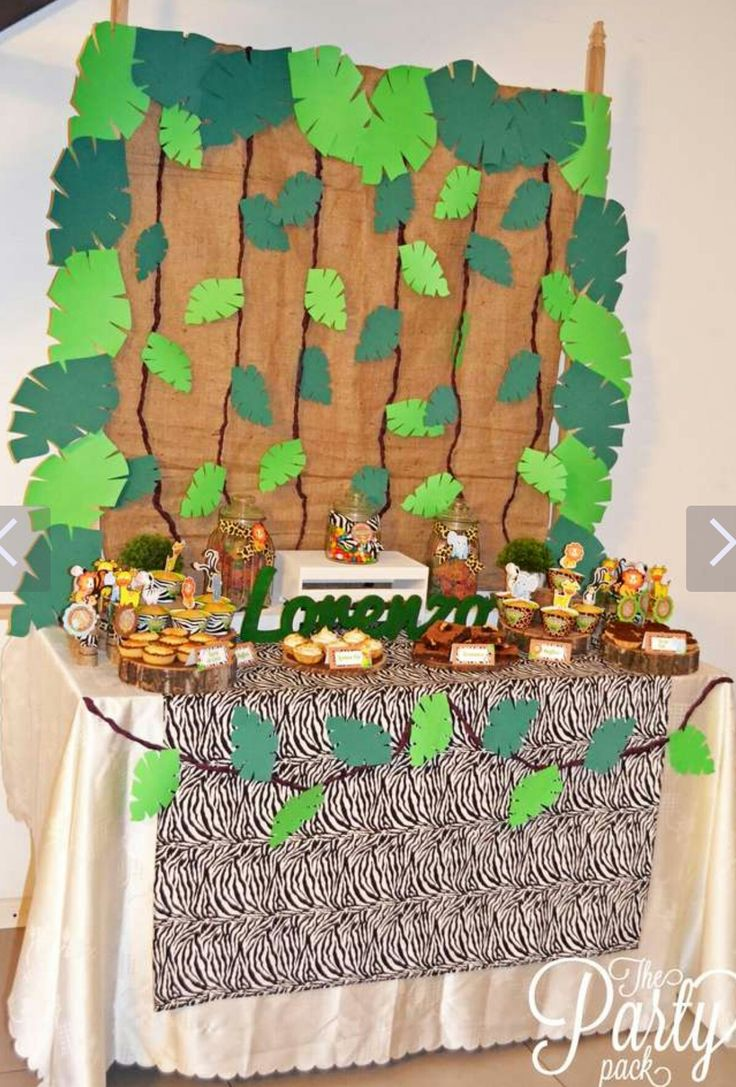 95 best ideas para fiesta safari images on pinterest - Ideas decoracion fiestas ...