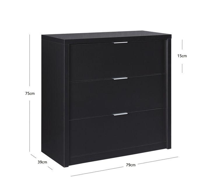 Alto 3 Drawer Lowboy | Dressers & Chests | Bedroom | Bedroom & Mattresses | Categories | Fantastic Furniture $249