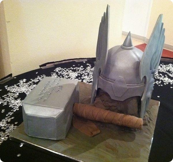 Thor Cake= awesome! @Jessica Sutton Robinson