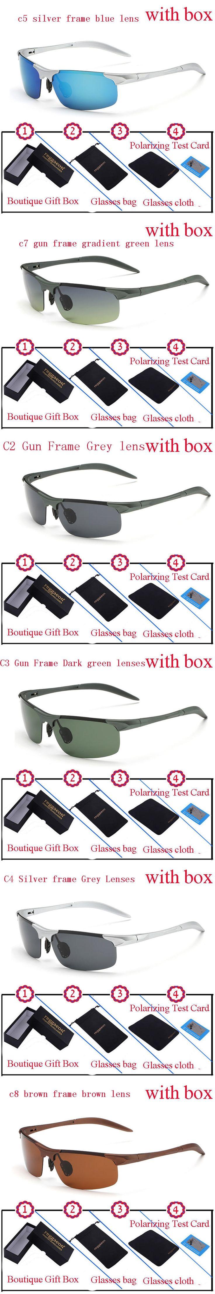 Luxury Reggaeon brand Design polarized men  goggles hot driving sunglasses Sports Coating Male Eyewear Accessories Color Lenses