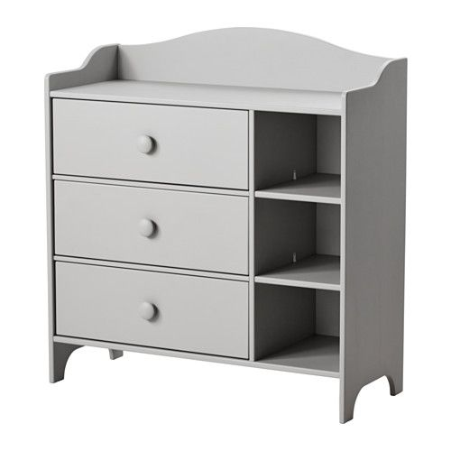IKEA TROGEN Chest of drawers Light grey 100x108 cm Comes with 3 drawers for a roomy storage space.