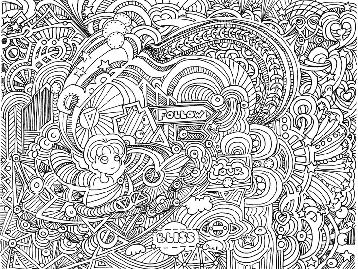 Anti anxiety colouring book murderthestout for Coloring pages bliss