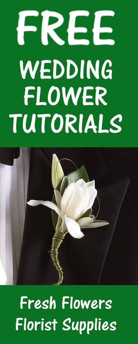 Boutonniere for Prom - Bouts for Weddings  Learn how to make your own wedding bouquets, bridal corsages, groom boutonnieres, reception centerpieces and church decorations.  Buy wholesale flowers and discount florist supplies.