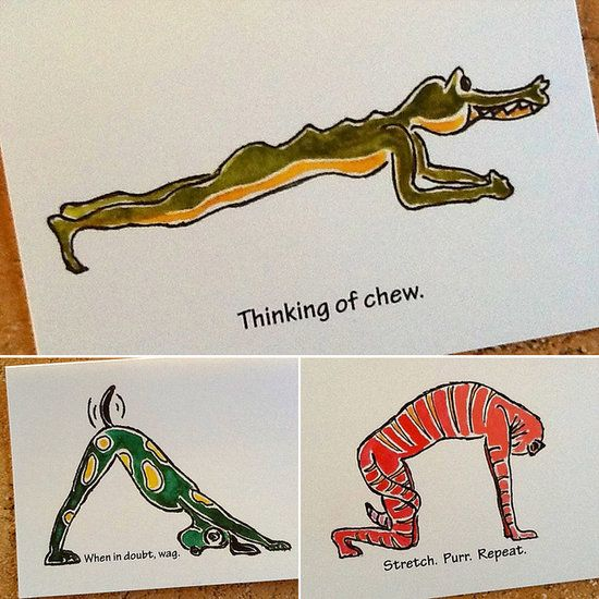 For the yogi who has everything, she's sure to appreciate the handmade touch and humor of these painted yoga-inspired greeting cards ($4 each). These are just three examples, but the artist has tons more to choose from.