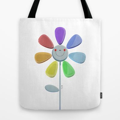 Rainbow Flower 2 Tote Bag by THE-LEMON-WATCH   Society6 #flower