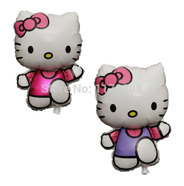 Hello Kitty Воздушные Шары Прекрасный Hello Kitty Алюминиевая Фольга Воздушные Шары Дети День Рождения Подарки Партия Украшения Weding Партия Поставки
