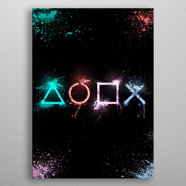 For Ps Fans Poster Print By Simon Garcia Displate Video Game Room Decor Game Room Wall Art Gaming Wall Art