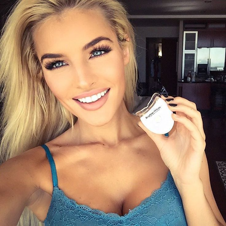 "Jean Watts - ""For those who have asked- I use this light and their whitening trays twice to once a week. Obsessed cuz it works great! They also have a gel to apply if…"""
