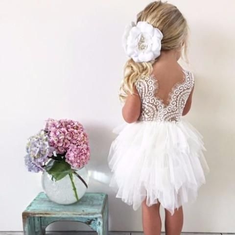"Related Items ""The Alicia"" Flower Girl Dress Flower tutu dress for birthdays, princess party, flower girl, photoshoots."