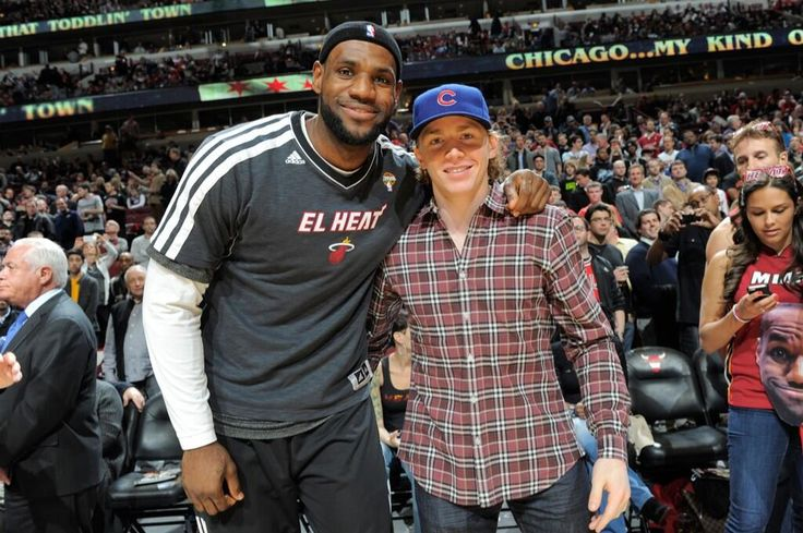 """""""Me and @KingJames before the bulls-heat game tonight at the UC. What a game. Wow"""""""