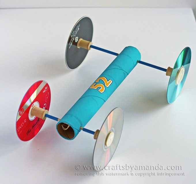 Car Craft For Kids Part - 48: Rubber Band Powered Car (via Crafts By Amanda)
