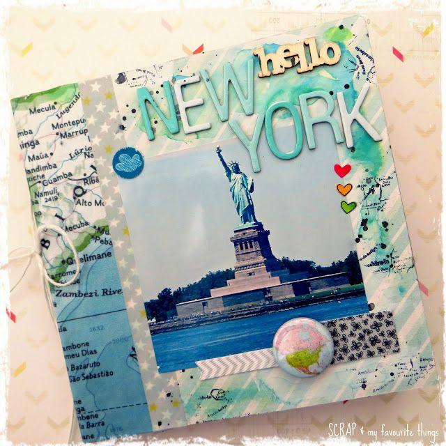 #papercraft #scrapbook #layout.  SCRAP  my favourite things: minialbum hello New York
