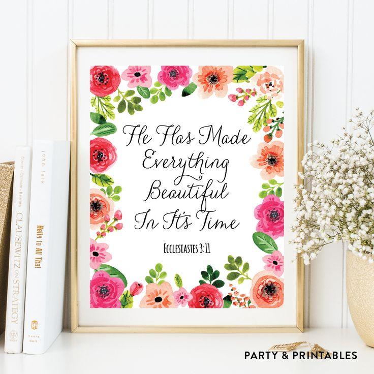 Ecclesiastes 3:11... http://partyandprintables.com/products/ecclesiastes-3-11-wall-art-instant-download-wa-46?utm_campaign=social_autopilot&utm_source=pin&utm_medium=pin #partyprintables #birthdayinvitation #partysupplies #partydecor #kidsbirthday #babyshower