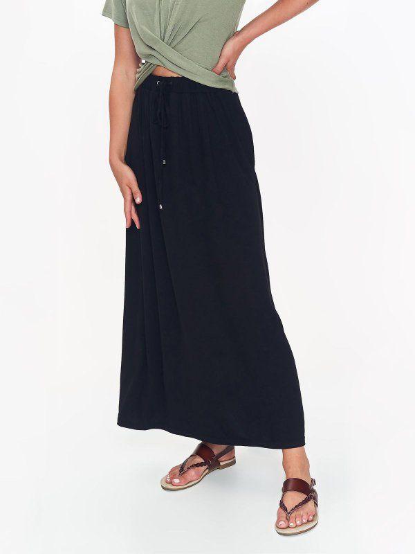 70b8ef04 Spódnica damska czarna - spódnica długa - TOP SECRET. SSD1275 ...