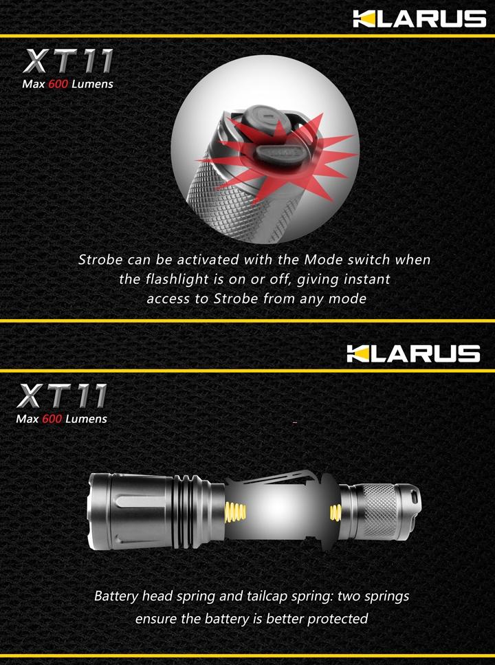 Awesome Lampe Torche Klarus XT Lumens lampe tactique police ultra puissante