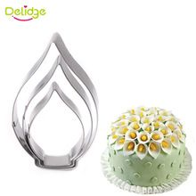 Delidge 3 adet/takım calla lily çerez kesici 3d sugarcraft fondan kek pasta bisküvi pişirme kalıp diy kek dekorasyon araçları(China (Mainland))