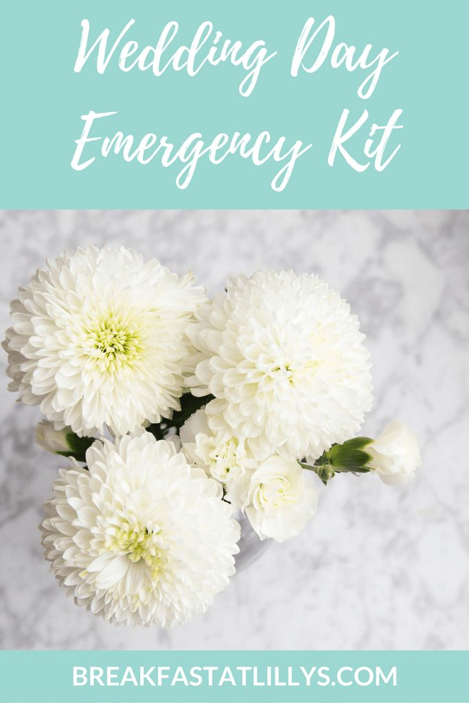 The wedding will be here in just a few short days so today I'm sharing my wedding day emergency kit on Breakfast at Lilly's.