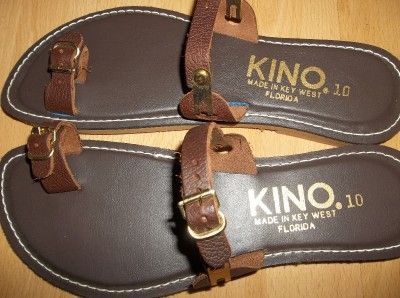 6ec566fa2b0 Kino Brown Gold Leather Sandals Made in Key West...I have several .