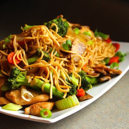 Healthy Chicken Chow Mein made with tons of veggies  lean protein and a home made Asian Stir Fry sauce