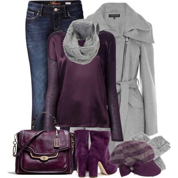 """""""Gray and Grape"""" by fantasy-closet on Polyvore"""