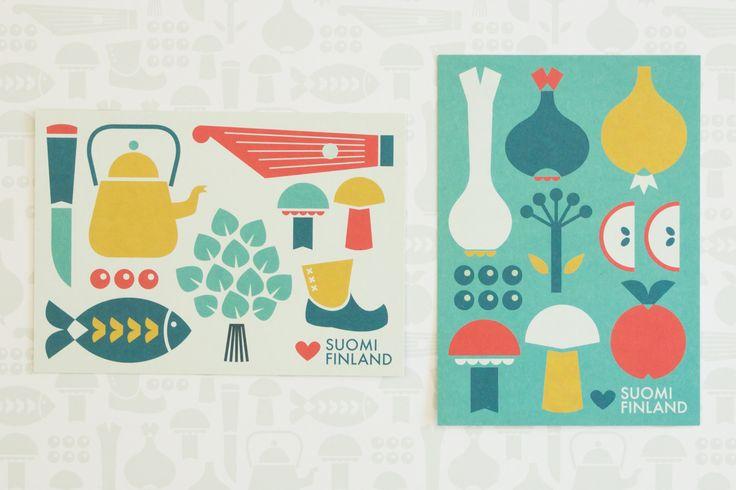 Muumuru postcards: Kyläjuhlat & Kesäherkut