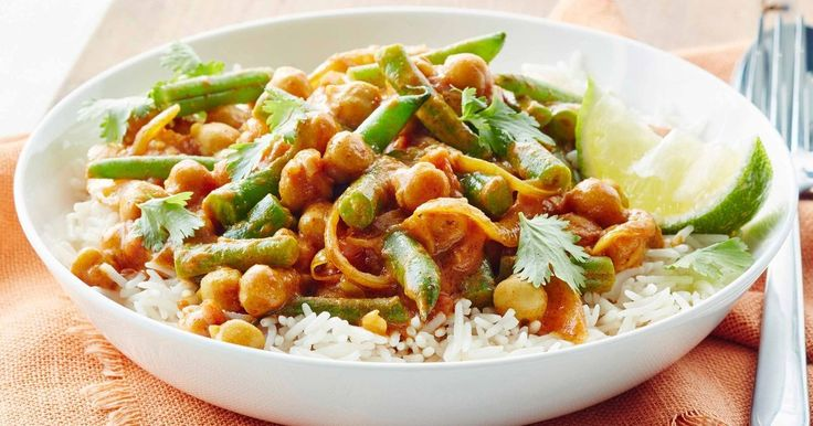 For a meal everyone can enjoy try this vegan chickpea curry made with hints of coconut and ginger.