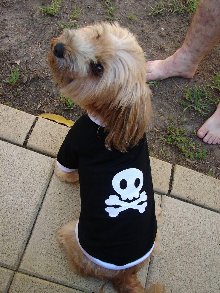 Skull & Cross bones dog shirt - cool