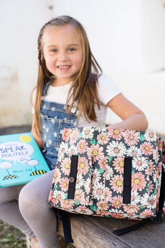 7b7f5c047ebe Flourish - Tula Kids Backpack. A lush bouquet of flowers captures the  spirit of Spring