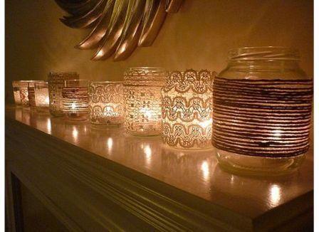 mason jar display