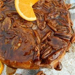 Casserole de pain doré aux pacanes, pour le brunch