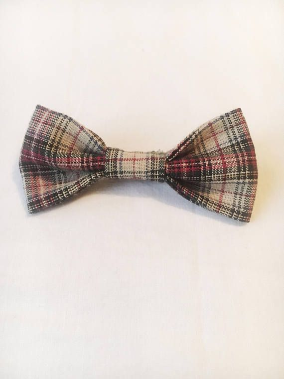 """Handmade baby bow tie with double lock brooch pin to attach to any shirt/onesie, whether it has a collar or not. All baby bow ties are about 3.5"""" long and 1.5"""" wide. Hand wash and air dry only."""