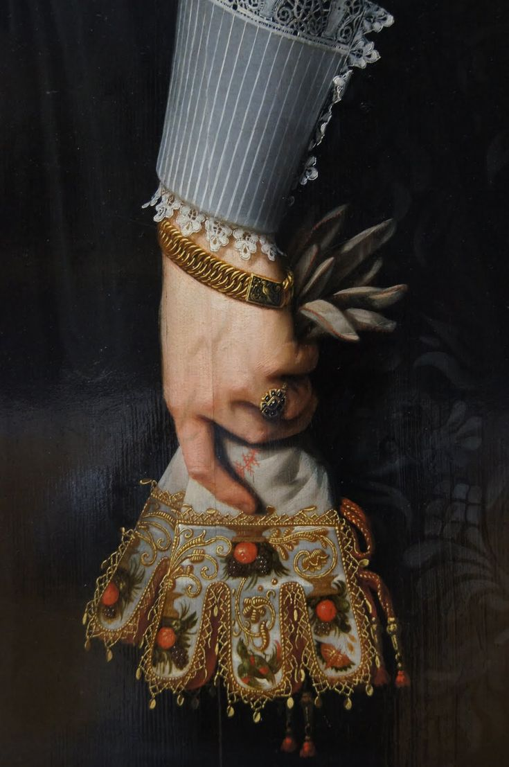 """Right Hand of Artemisia Gentileschi Holding a Brush.""( Detail )  ~ Nicolaes Eliaszoon Pickenoy"