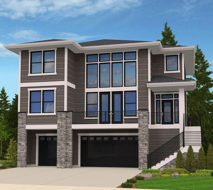 17 best images about homes on pinterest exterior colors for Uphill slope house plans