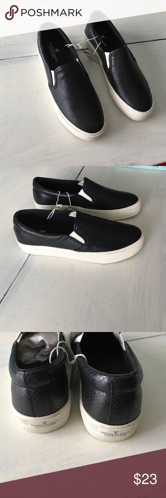 Black platform slip on sneakers American Eagle Outfitters slip on sneakers American Eagle Outfitters Shoes Sneakers