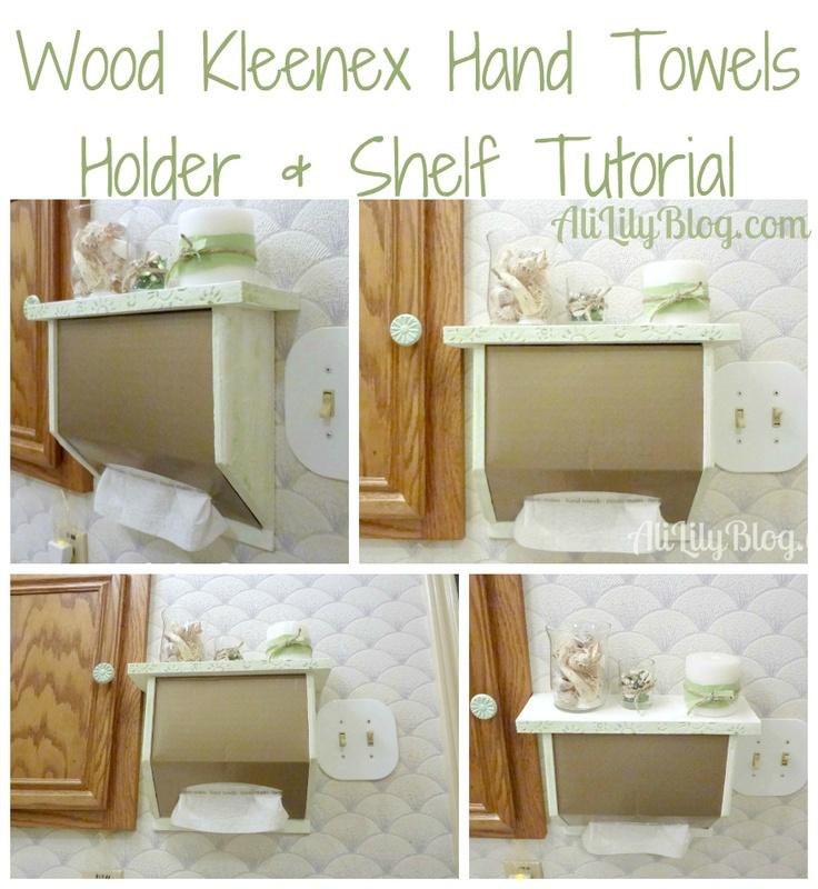 Kleenex Hand Towels Wood Shelf Holder Tutorial Cgc Cleanhands Spon Clever